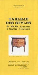 Jacques Bertrand - Tableau des styles du Meuble Français à travers l'Histoire.