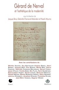 Jacques Bony et Gabrielle Chamarat-Malandain - Gérard de Nerval et l'esthétique de la modernité.