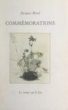 Jacques Borel - Commémorations.
