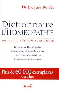 Jacques Boulet - Dictionnaire de l'homéopathie.