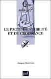 Jacques Bourrinet - Le pacte de stabilité et de croissance.