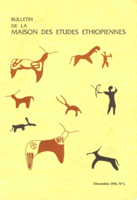 Jacques Bureau - Bulletin de la Maison des études éthiopiennes | Décembre 1992. N°1.