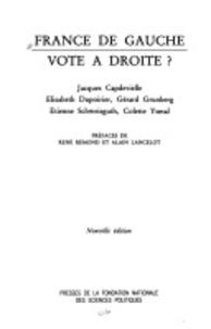 Jacques Capdevielle et Élisabeth Dupoirier - France de gauche, vote à droite.