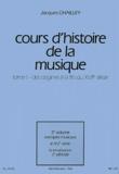 Jacques Chailley - Cours d'histoire de la musique - Tome 1, Des origines à la fin du XVIIe siècle, 3e volume : le XVe siècle.