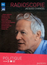 Jacques Chancel - Radioscopie - Volume 3, Politique. 2 CD audio MP3