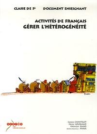 Jacques Chantelot - Activités de français Classe de 5e - Gérer l'Hétérogénéité, Document enseignant.
