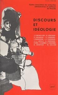 Jacques Chevallier et Raphaël Draï - Discours et idéologie.