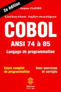 COBOL. ANSI 74 à 85, langage de programmation, 2ème édition.pdf