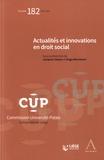 Jacques Clesse et Hugo Mormont - Actualités et innovations en droit social.