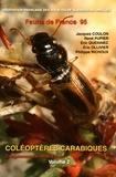 Jacques Coulon et René Pupier - Coléoptères carabiques - Compléments et mise à jour Volume 2, Harpalidae, Brachinidae, bibliographie, catalogue, index.