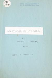 Jacques Dartan - La phobie de l'humain.