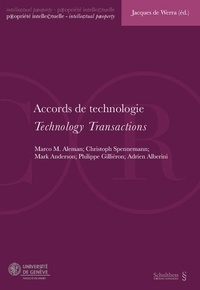 Jacques de Werra - Accords de technologie.