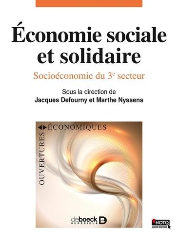 Jacques Defourny et Marthe Nyssens - Economie sociale et solidaire - Socio-économie du 3e secteur.