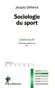 Jacques Defrance - Sociologie du sport.