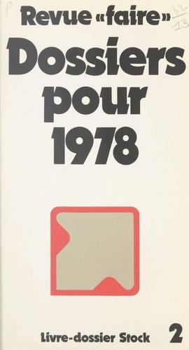 Revue Faire : dossiers pour 1978