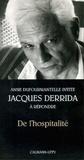 Jacques Derrida et Anne Dufourmantelle - De l'hospitalité - Précédé de Invitation.