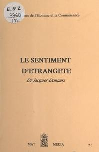 Jacques Donnars - Le sentiment d'étrangeté.
