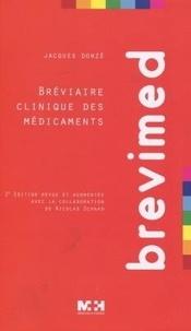 Jacques Donzé - Brevimed - Bréviaire clinique des médicaments.