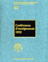 Jacques Duparc et  Collectif - Conférences d'enseignement 1992.