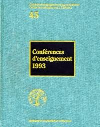 Jacques Duparc et  Collectif - Conférences d'enseignement 1993.