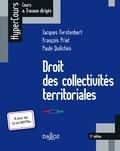 Jacques Ferstenbert et François Priet - Droit des collectivités territoriales.