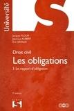 Jacques Flour et Jean-Luc Aubert - Les obligations - Tome 3, Le rapport d'obligation.