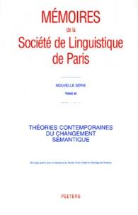 Jacques François - Théories contemporaines du changement sémantique.