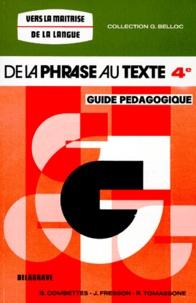 FRANCAIS 4EME DE LA PHRASE AU TEXTE. Guide pédagogique.pdf