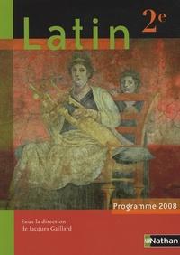 Jacques Gaillard - Latin 2e - Programme 2008.