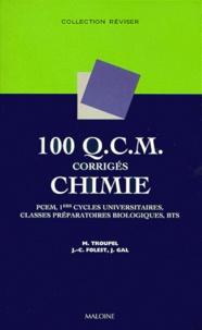 100 QCM corrigés de chimie - PCEM, 1ers cycles universitaires, classes préparatoires biologiques, BTS.pdf