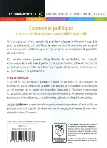 Economie politique. Tome 1, Economie descriptive et comptabilité nationale 9e édition