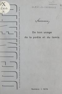 Jacques Geninasca et Algirdas J. Greimas - Du bon usage de la poêle et du tamis.