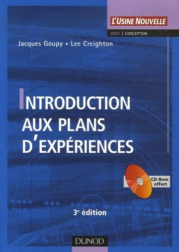 Jacques Goupy et Lee Creighton - Introduction aux plans d'expériences. 1 Cédérom