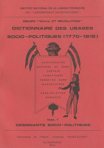 Jacques Guilhaumon - Dictionnaire des usages socio-politiques (1770-1815).