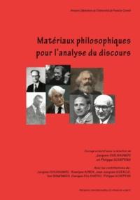 Jacques Guilhaumou et Philippe Schepens - Matériaux philosophiques pour l'analyse du discours.