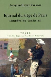 Histoiresdenlire.be Journal du siège de Paris Image