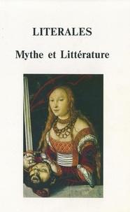 Jacques Houriez - Litérales, mythe et littérature - Séminaire de la formation doctorale de lettres, humanités, civilisations de l'université de Besançon.