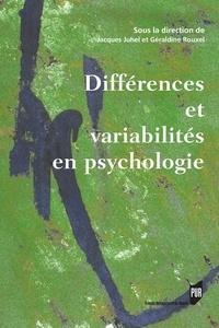 Jacques Juhel et Geraldine Rouxel - Différences et variabilités en psychologie.