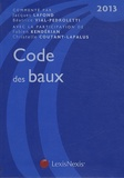 Jacques Lafond et Béatrice Vial-Pedroletti - Code des baux 2013.