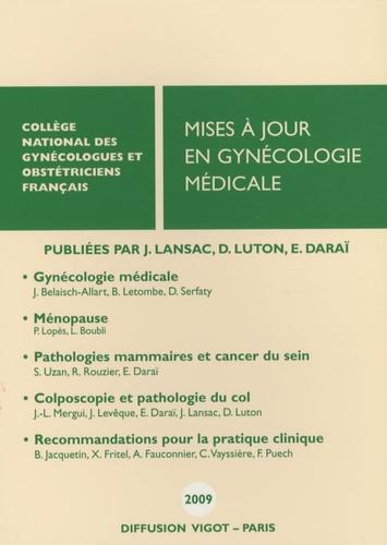Jacques Lansac et Dominique Luton - Mises à jour en gynécologie médicale.