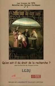 Jacques Larrieu - Qu'en est-il du droit de la recherche ?.