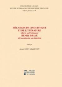 Jacques Lerot et Rudolf Kern - Mélanges de linguistique et de littérature offerts au Professeur Henri Draye à l'occasion de son éméritat - Edition français-allemand-anglais-néerlandais.