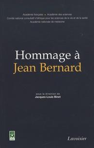 Collectif et Jacques-Louis Binet - Hommage à Jean Bernard.