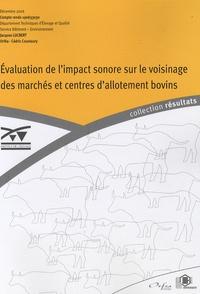 Jacques Lucbert - Evaluation de l'impact sonore sur le voisinage des marchés et centres d'allotement bivins.