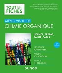Jacques Maddaluno et Véronique Bellosta - Mémo visuel de chimie organique - 3e éd. - 186 fiches, plus de 600 schémas, photos en couleurs.