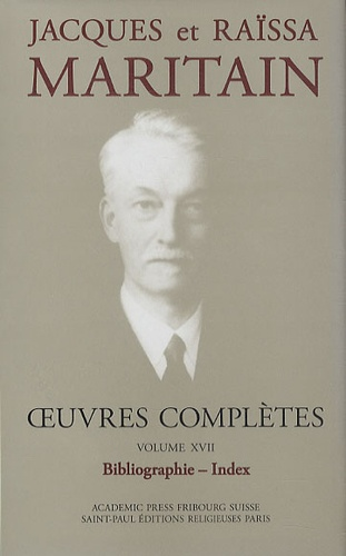 Jacques Maritain - Oeuvres complètes n°17.