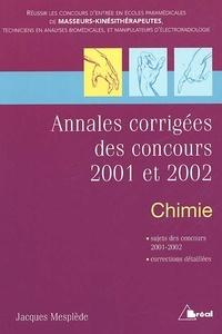 Annales corrigées des concours 2001 et 2002. Chimie.pdf