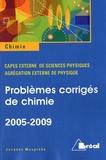 Jacques Mesplède - Problèmes corrigés de chimie 2005-2009 - CAPES Agrégation externe de sciences physiques.