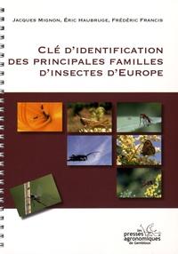 Jacques Mignon et Eric Haubruge - Clé d'identification des principales familles d'insectes d'Europe.