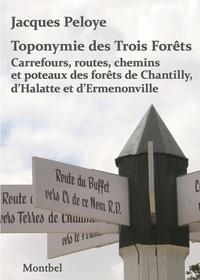 Jacques Peloye - Toponymie des Trois Forêts - Carrefours, routes, chemins et poteaux des forêts de Chantilly, d'Halatte et d'Ermenonville.